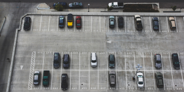 Drone view of car park
