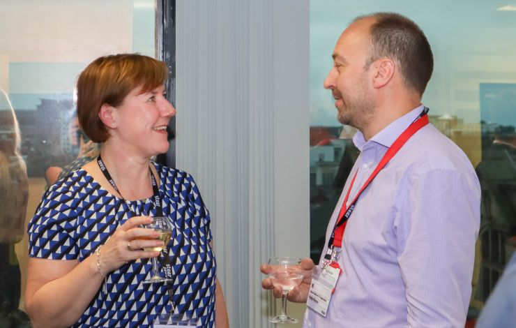 Networking at Research & Innovation Showcase Leeds